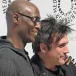 Lance Reddick and J.H. Wyman
