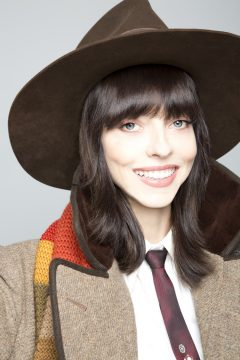 Juliet Landau closeup as Fourth Doctor