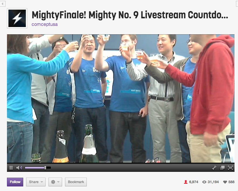Mighty No. 9 launch celebration