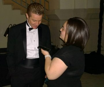 James Marsters being interviewed by Isis Nocturne at the Pasadena International Film Festival. Photo Credit: Jakki Cox