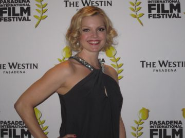 Clare Kramer on the red carpet at the Pasadena International Film Festival. Photo Credit: Isis Nocturne