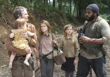 (Brighton Sharbino) and Tyreese (Chad Coleman) - The Walking Dead - Season 4, Episode 10 Photo Credit: Gene Page/AMC