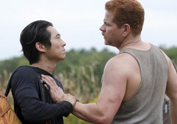 Glenn (Steven Yeun) and Abraham (Michael Cudlitz) - The Walking Dead - Season 4, Episode 11 Photo Credit: Gene Page/AMC