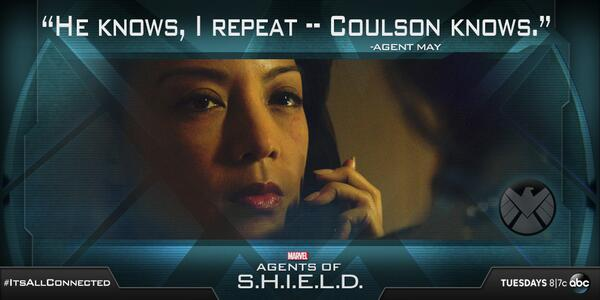 who is May calling SHIELD