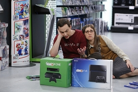 "Sheldon (Jim Parsons) & Amy (Mayim Bialik) struggle with choosing a gaming system. The Big Bang Theory ""The Indecision Amalgamation"" Season 7 Episode 19 Photo credit: Cliff Lipson/ CBS"