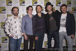 The CW's Supernatural - Mark Sheppard, Jeremy Carver, Misha Collins, Jared Padalecki, Jensen Ackles