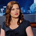Hayley Atwell At Jimmy Kimmel
