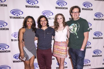 The cast of The CW's The Flash at WonderCon Anaheilm 2015