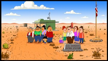 BORDERTOWN: A new animated comedy from FAMILY GUYÕs Mark Hentemann and Seth MacFarlane, BORDERTOWN is a satirical look at the cultural shifts taking place in America. Exploring family, politics and everything in between with a cross-cultural wink, the series centers on two very different families living in a fictional Southwest desert town on the U.S. - Mexico border.   BORDERTOWN will debut during 2014-2015 Season on FOX.  BORDERTOWN ª and © 2014 TCFFC ALL RIGHTS RESERVED.