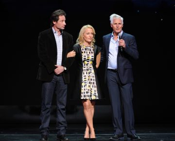 FOX 2015 PROGRAMMING PRESENTATION:ÊTHE X-FILES Cast Members David Duchovny and Gillian Anderson, and Creator/Executive Producer Chris CarterÊduring theÊFOX 2015 PROGRAMMING PRESENTATIONÊannouncing FOX's new primetime schedule on Monday, May 11, at The Beacon Theatre Êin New York. Ê©2015 FOX BROADCASTING. ÊCR: Frank Micelotts/FOX