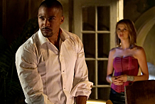 """The Originals -- """"A Walk on the Wild Side"""" -- Image Number: OG304b_0033.jpg -- Pictured (L-R): Charles Michael Davis as Marcel and Riley Voelkel as Freya -- Photo: Annette Brown/The CW -- © 2015 The CW Network, LLC. All rights reserved."""