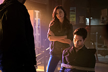 "The Originals -- ""Beautiful Mistake"" -- Image Number: OG306a_0263.jpg -- Pictured (L-R): Phoebe Tonkin as Hayley and David E. Collier as Shen -- Photo: Annette Brown/The CW -- © 2015 The CW Network, LLC. All rights reserved."
