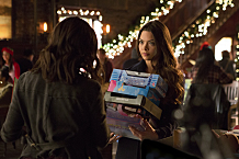 "The Vampire Diaries -- ""Cold as Ice"" -- Image Number: VD709b_0264.jpg -- Pictured (L-R): Kat Graham as Bonnie (back to camera) and Scarlett Byrne as Nora -- Photo: Eli Joshua Ade/The CW -- © 2015 The CW Network, LLC. All rights reserved."