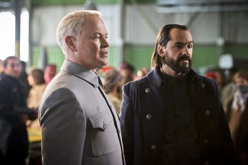 "DC's Legends of Tomorrow -- ""Pilot, Part 2"" -- Image LGN102_20150917_0279b -- Pictured (L-R): Neal McDonough as Damien Darhk and Casper Crump as Vandal Savage -- Photo: Diyah Pera/The CW -- © 2015 The CW Network, LLC. All Rights Reserved."
