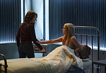 """The Vampire Diaries -- """"Days of Future Past"""" -- Image Number: VD716b_0516.jpg -- Pictured (L-R): Scarlett Byrne as Nora and Teressa Liane as Mary Louise -- Photo: Richard Ducree/The CW -- © 2016 The CW Network, LLC. All rights reserved."""