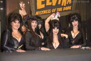Elvira with others  - ScareLA 2016