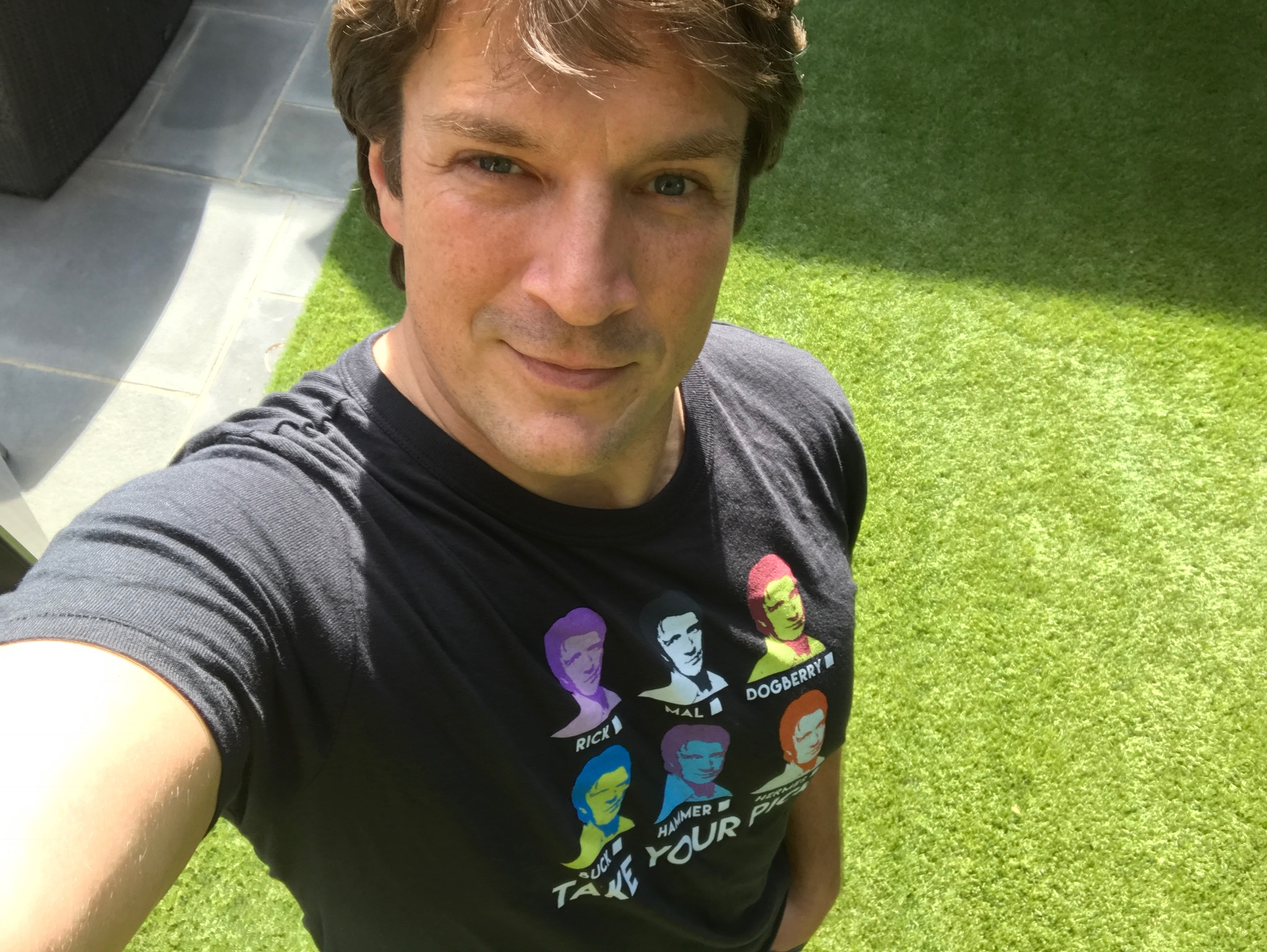 Nathan Fillion t-shirt for charity 2016-11-14